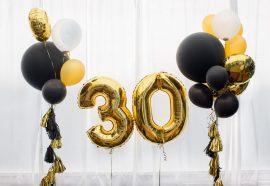Оформление зала к юбилею и дню рождения