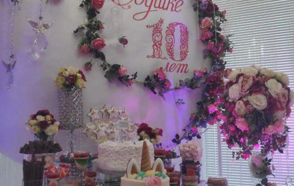 Украшение зала на день рождения девочки