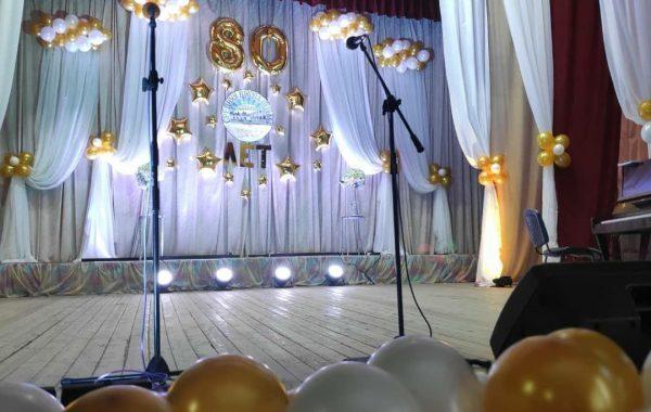 Украшение зала к юбилею школы в д.Тельмы, Брестский р-н